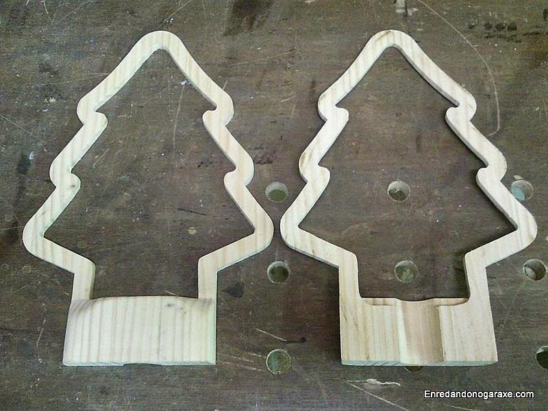 Árbol cortado justo al medio en dos partes simétricas. enredandonogaraxe.com