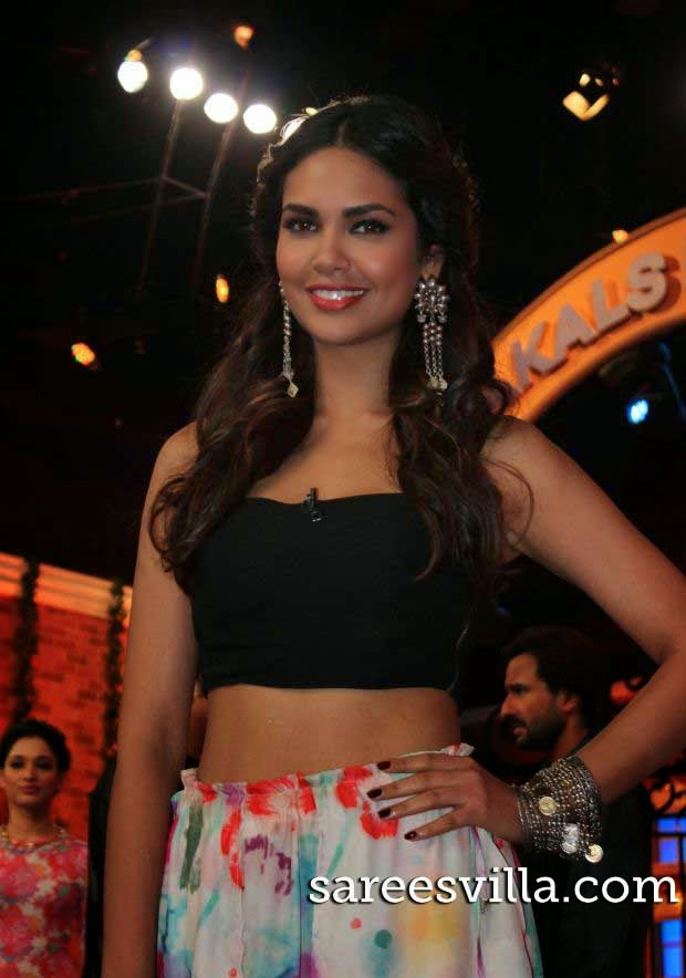 Esha Gupta In Floral Skirt