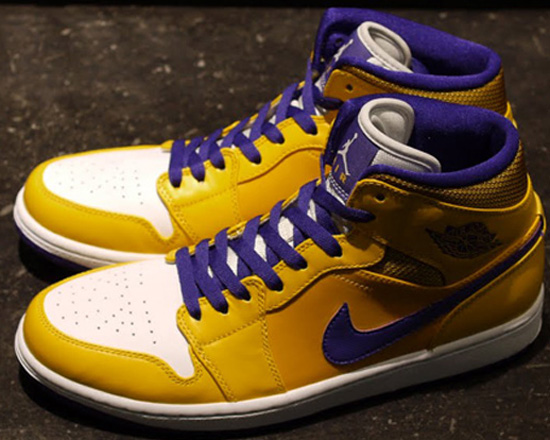 womens air jordan retro 1 purple yellow