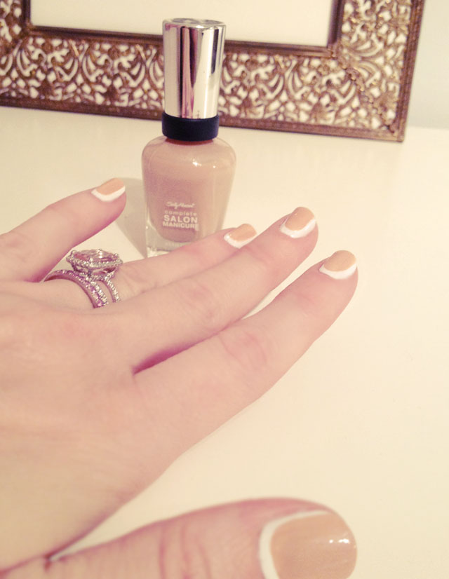 pale nails for spring 2013