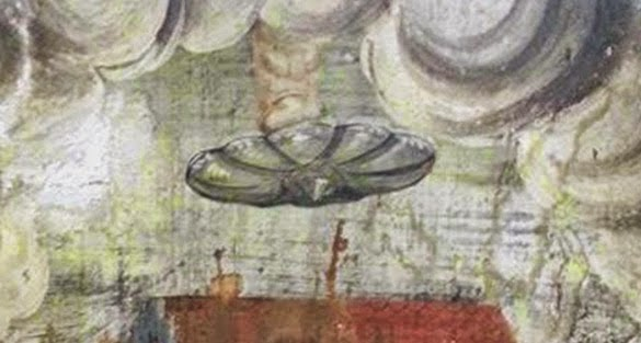 Possible UFO Discovered In An Old Wall Painting In Romania