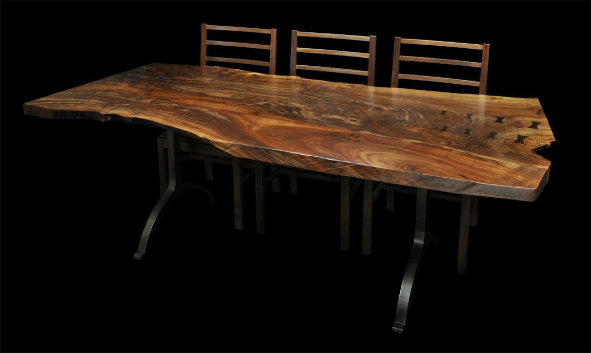 Delicieux Some Claro Walnut Slab Tables