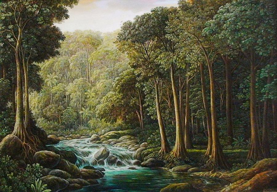 Famoso Galería De Cuadros De árboles Verdes Motivo - Ideas de Arte ...