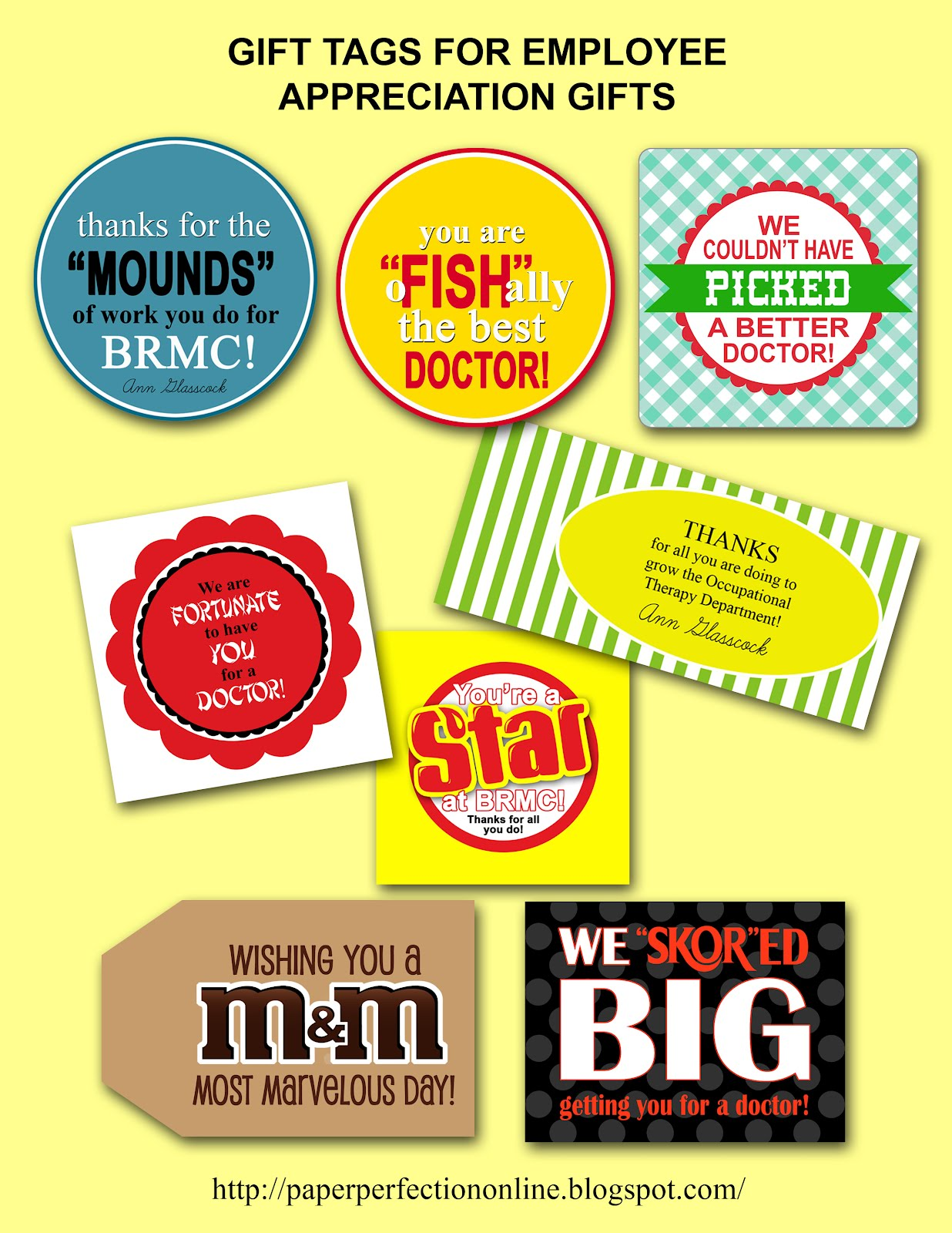 Paper Perfection: Gift Tags for Employee Appreciation ...