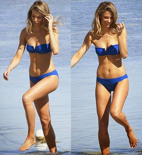 Retro Bikini Jennifer Hawkins Shoots In Bikinis For Myer