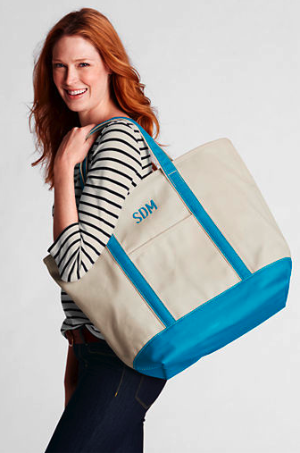 599bc2ba16c7e Sweet Like a Song  Lands  End Canvas Tote Review!