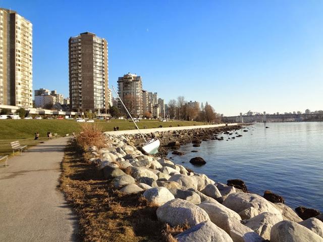 Blue Vancouver skies in December