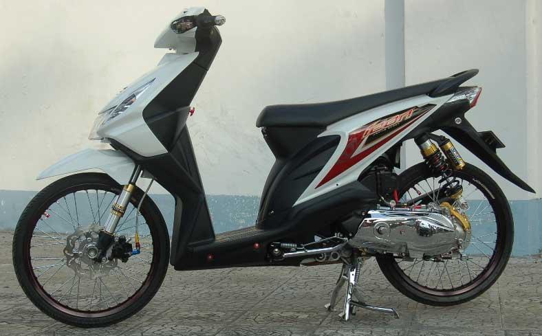 Modifikasi Motor Honda Beat pada Pelek nya title=