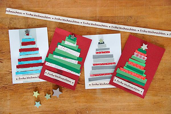 Weihnachtskarten basteln, DIY, Christmas Card, Weihnachten, Bastelidee