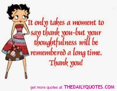 Carolee Crafts Saying Thank You