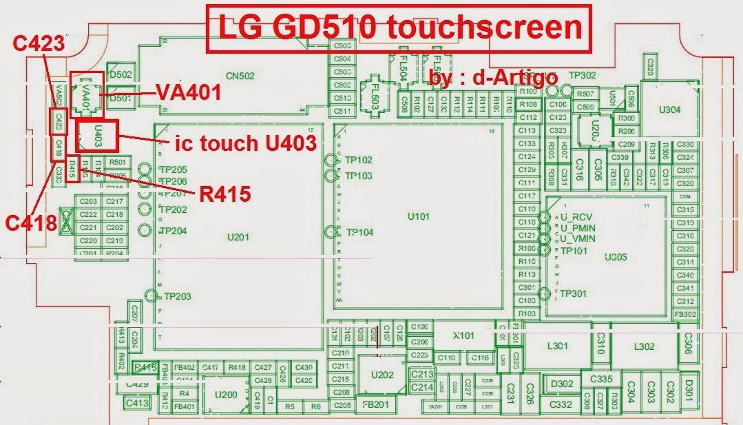 Jumper Toucscreen LG GD510
