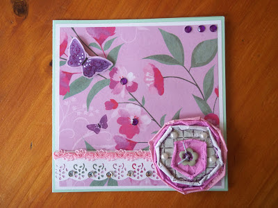 Crumpled Paper Flower Card