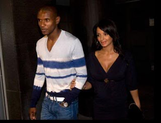 Eric Abidal with Wife