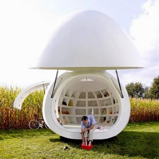تخيلتم السكن داخل بيضه؟؟