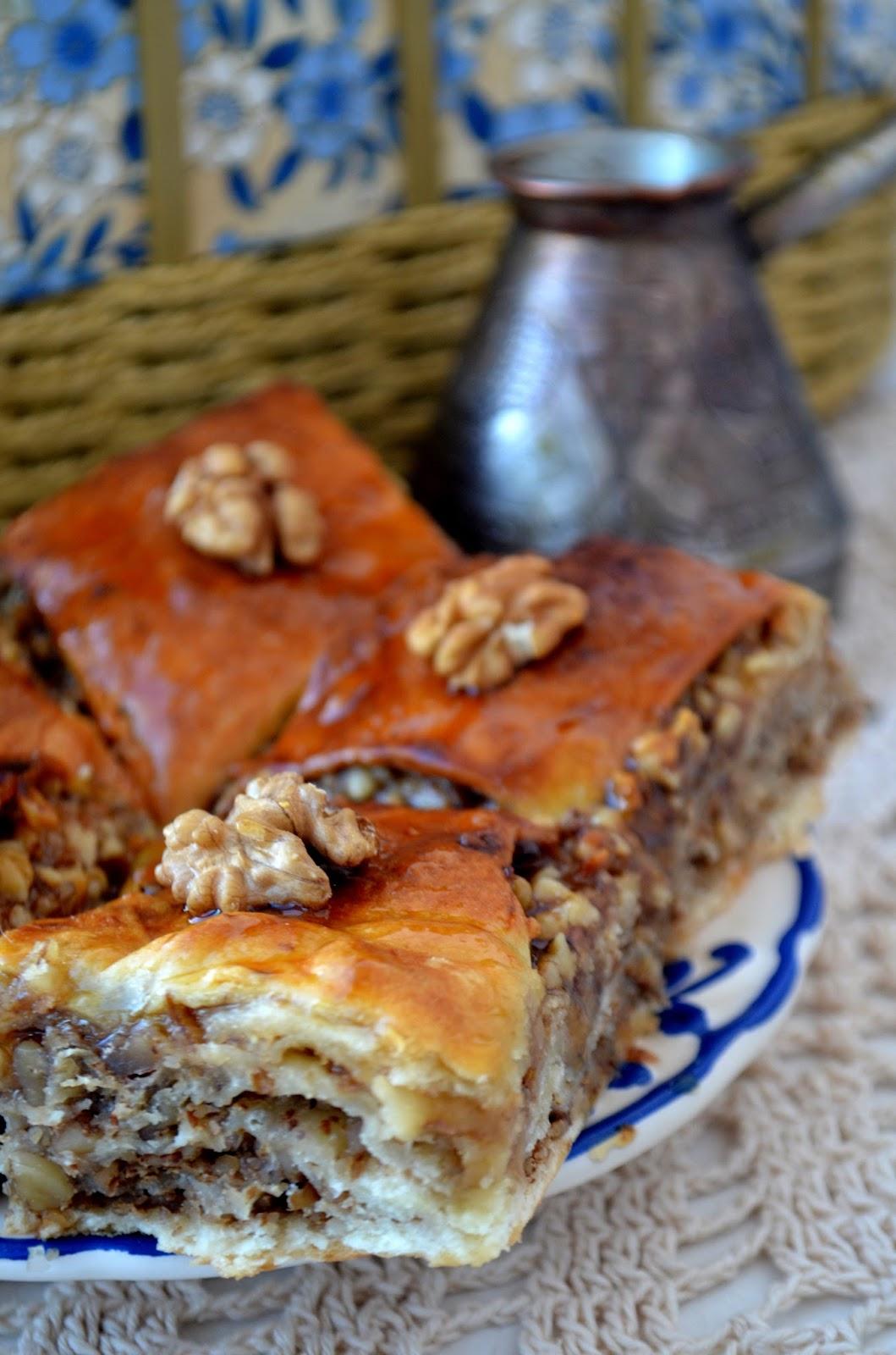 Пахлава с грецкими орехами пошаговый рецепт