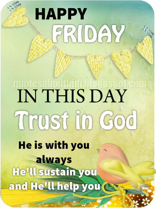 Free Christian card about trust in God on Friday