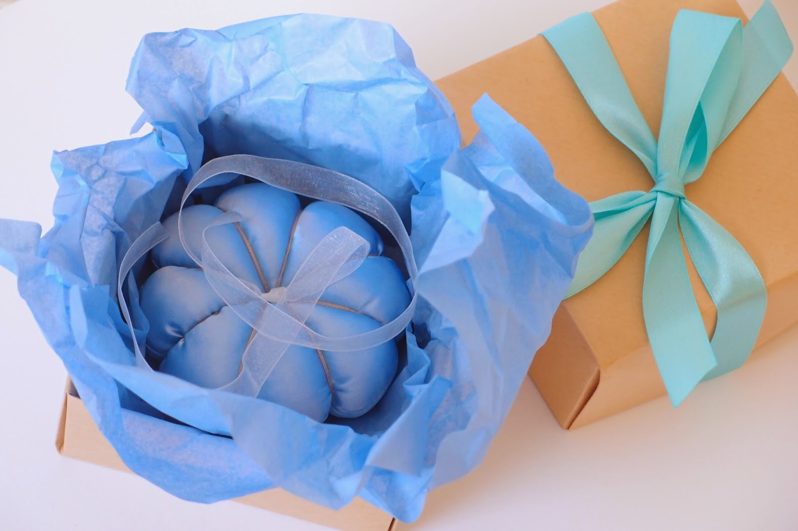 something blue wedding rings cushion