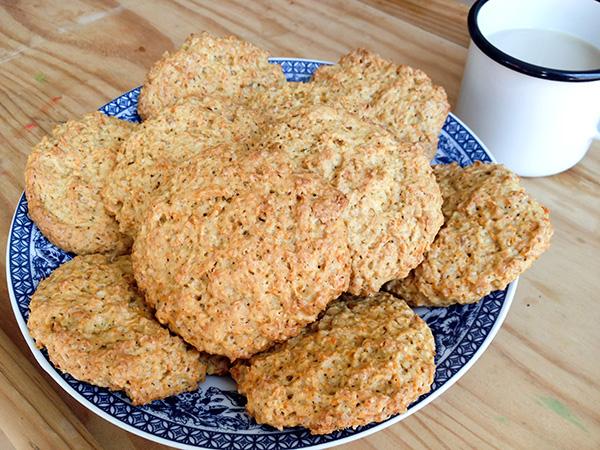 receta: galletas de zanahoria y avena