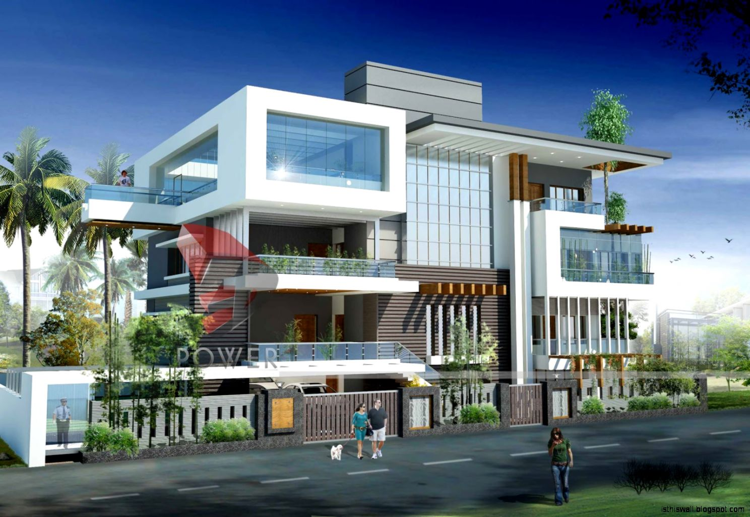 Ultra modern home designs this wallpapers for Modern triplex house designs