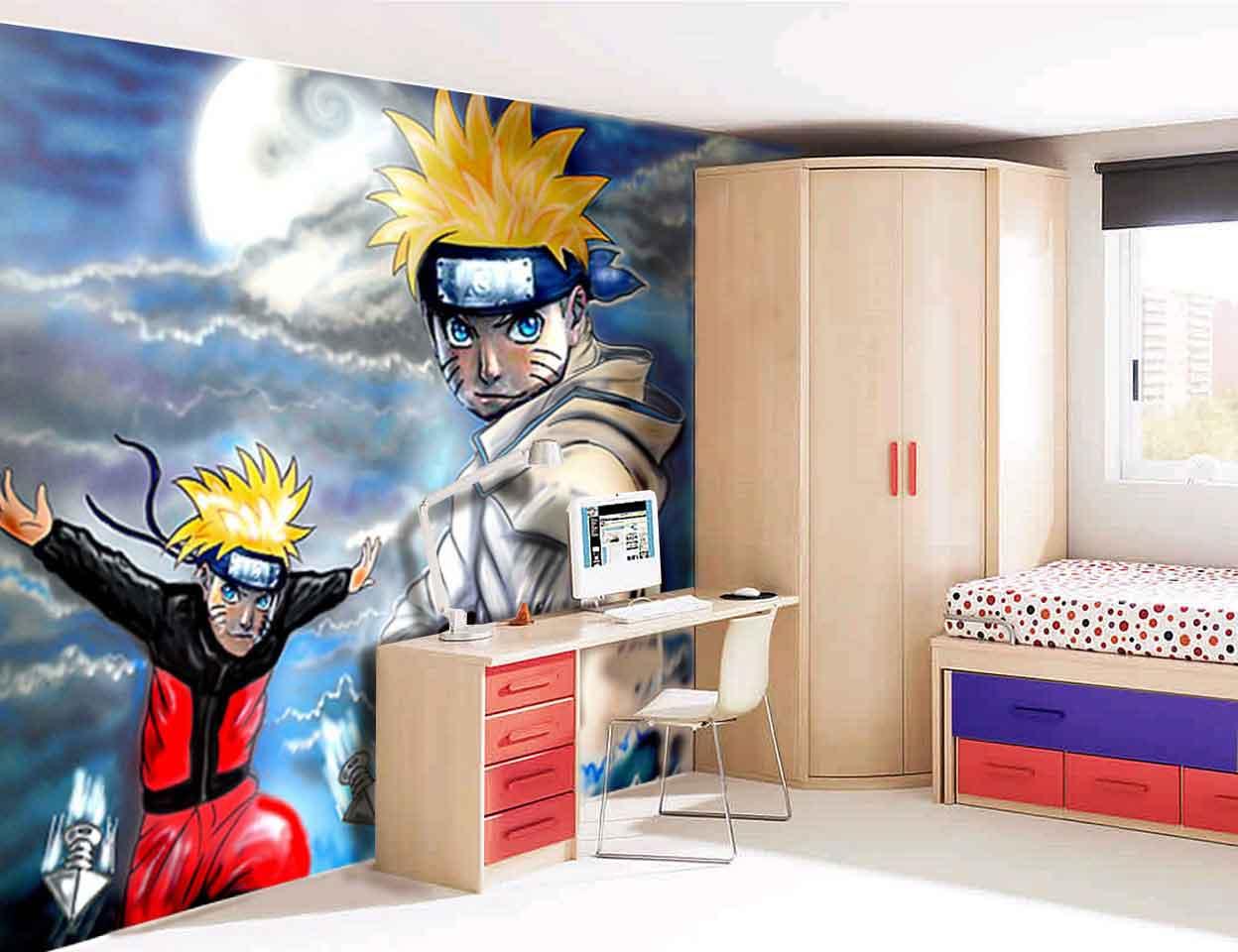 Papel De Parede Para Quarto Naruto Redival Com ~ Grafite Parede Quarto Com Quarto Moderno Solteiro