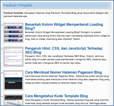 Mengisi dan Menampilkan Artikel Tertentu di Halaman Blog