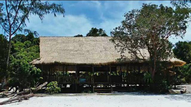 Paillotte à Koh Rong au Cambodge