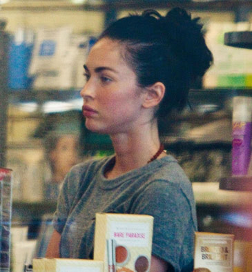 megan fox eye makeup. megan fox without makeup on.