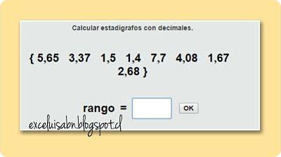 Estadígrafos con decimales.