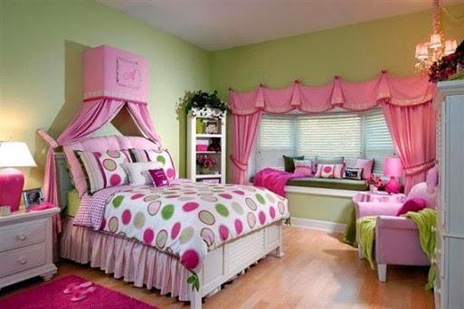 model kamar tidur anak perempuan