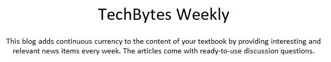 TechBytes Weekly