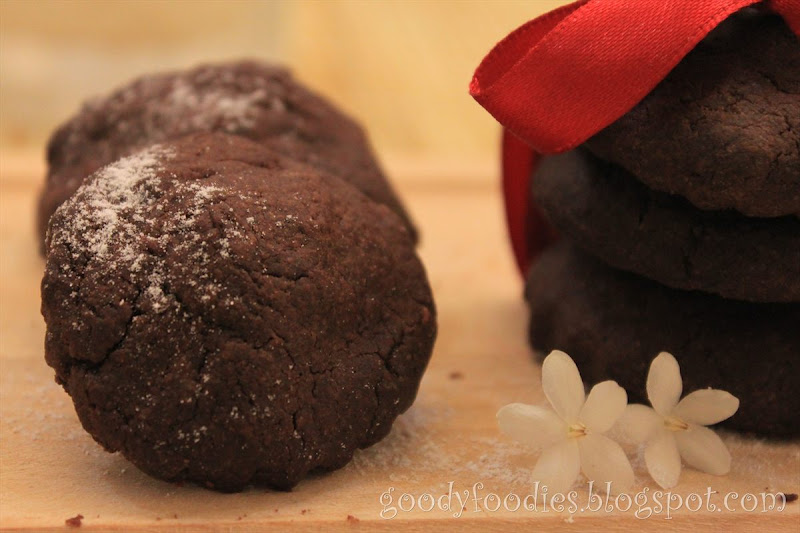 Chocolate Biscuits With Soft Chocolate Centres