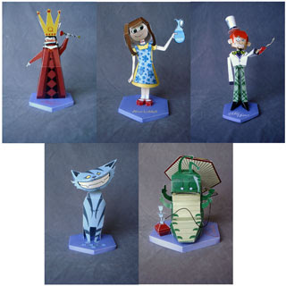 Alice in Wonderland Papercraft Model