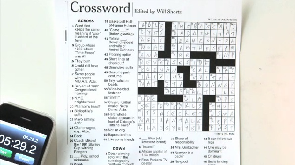 New York Times Crossword Puzzle, Will Shortz, Dan Feyer