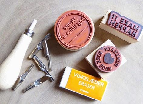Stempler og værktøj til selv at lave dem