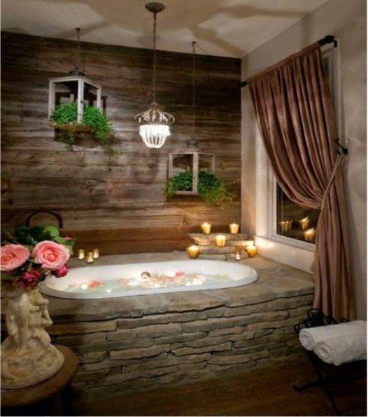 Boiserie c 30 bagni in pietra 30 stone bathrooms - Bagno con boiserie ...