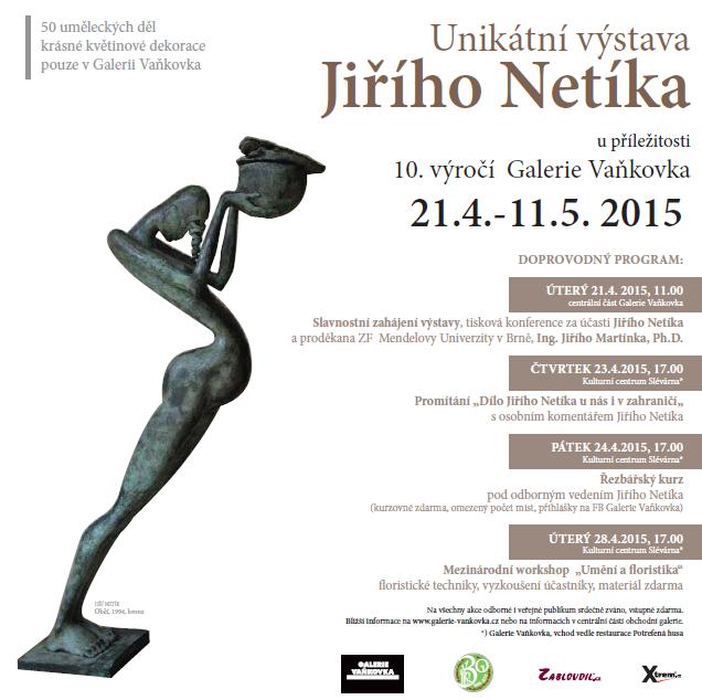 Program k výstavě v Galerii Vaňkovka