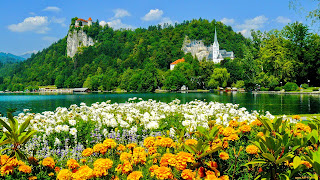 Lake Bled Slovenia Cool Desktop Wallpaper