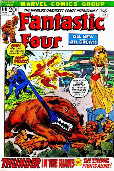 Fantastic Four #118, Crystal and Diablo