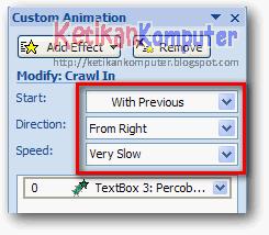 Mengatur animation