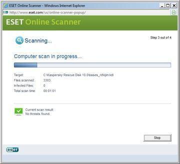 ESET Online Scanner: varredura completa via web