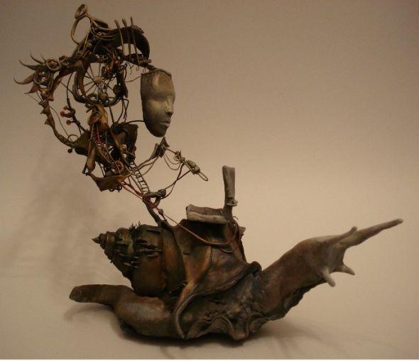 Ellen Jewett CreaturesFromEl deviantart esculturas surreais mixed animais Lesma