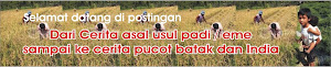 Dari Cerita asal usul padi / eme sampai ke cerita pucot batak dan India serta Ramalan pucot
