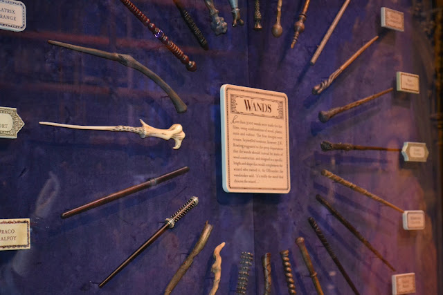 A picture of the Wands at the Harry Potter Studio Tour