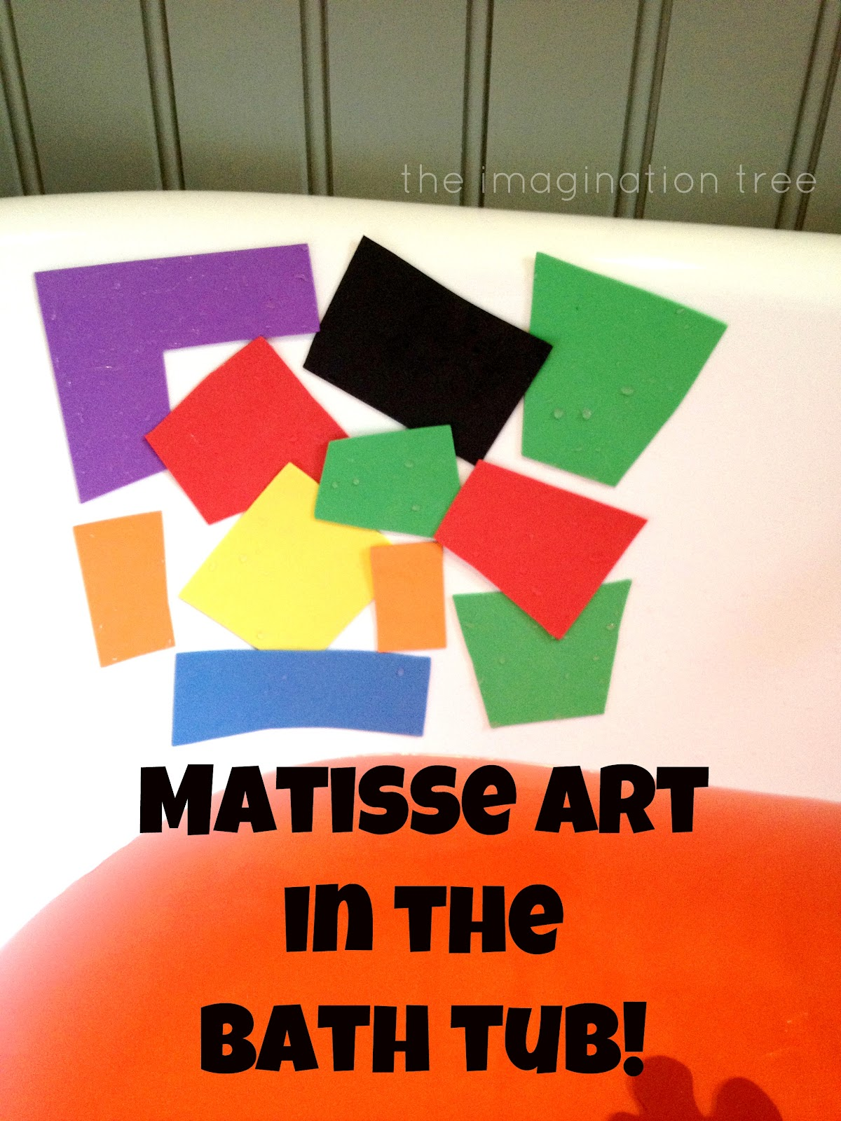 Matisse Art in the Bath Tub! - The Imagination Tree