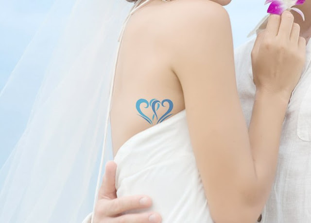 Something Blue Wedding Ideas - Blue Tattoo