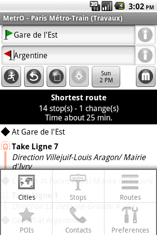 MetrO for Android - Screenshot