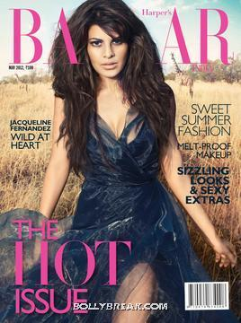 Jacqueline Fernandez Harper&#39;s Bazaar India Edition May Cover - Jacqueline Fernandez Harper&#39;s Bazaar Cover - May 2012