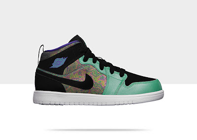 Air Jordan 1 Mid Flex (10.5c-3y) Pre-School Girls' Shoe 555111-309