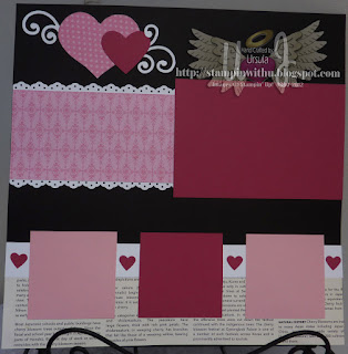 All Hearts Scrapbooking Page