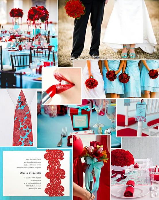 Wedding Network Nigeria Nigerian Wedding Teal And Red